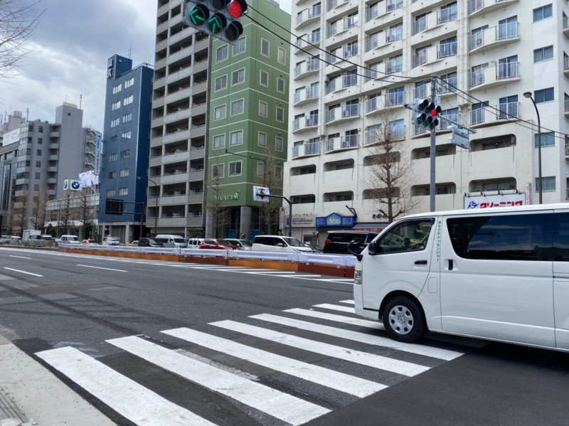 第一京浜(泉岳寺駅周辺)