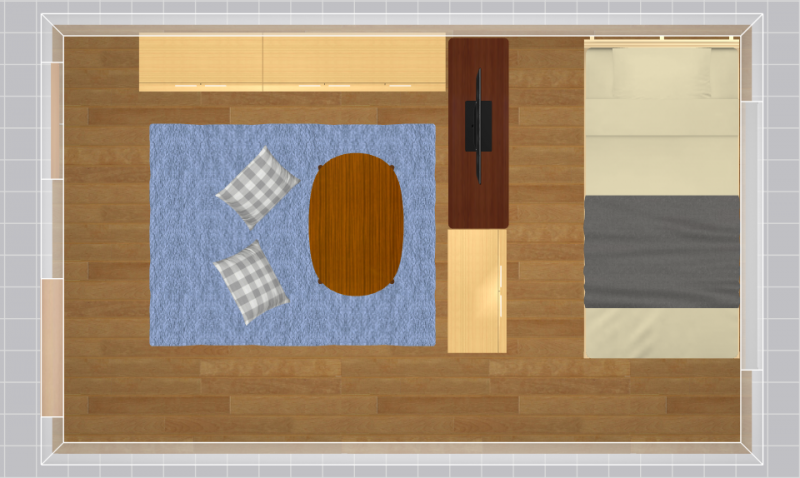 7畳の家具配置例