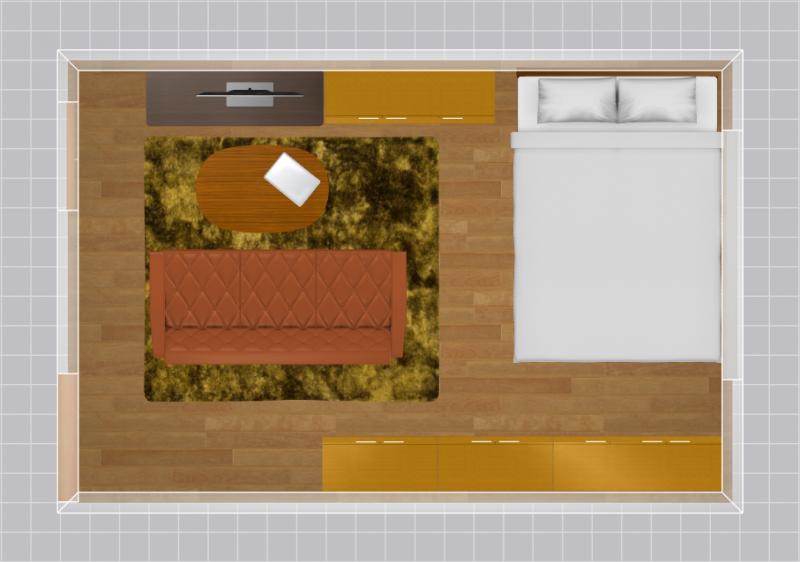8畳の家具配置例