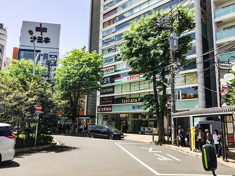 成増駅南口のロータリー