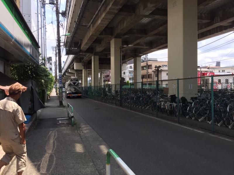 用賀駅南口側(首都高速3号渋谷線)