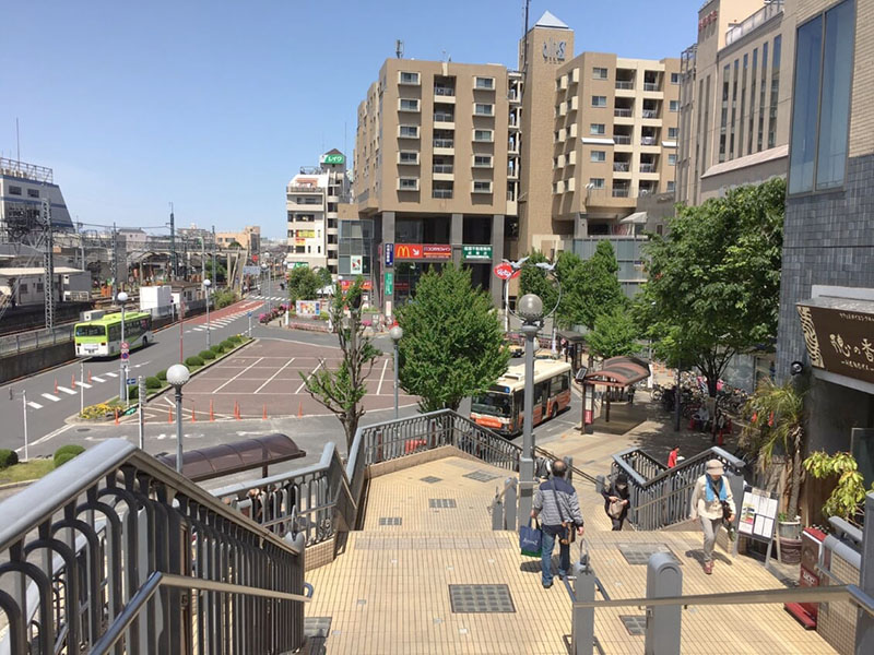 成増駅北口のロータリー