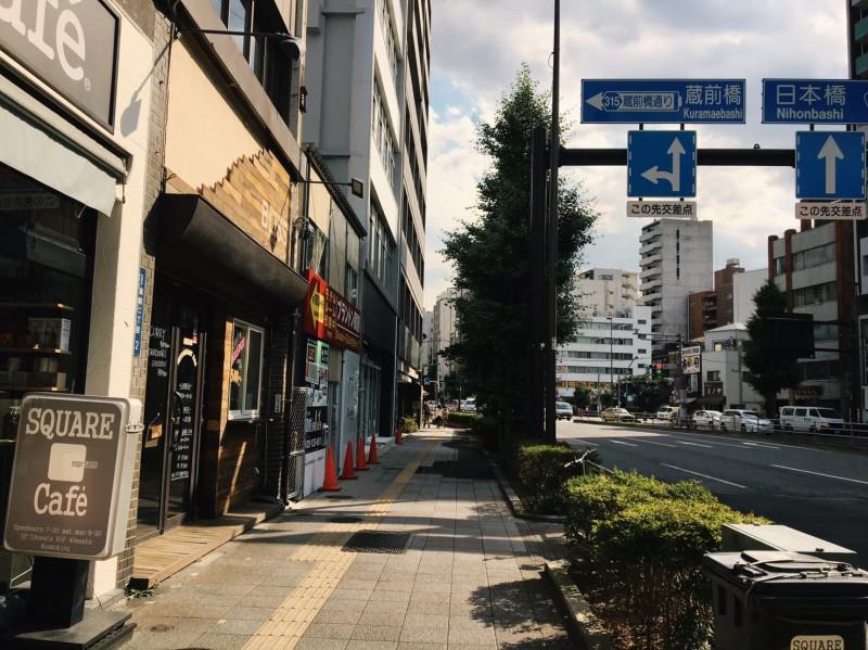 江戸通りのカフェ