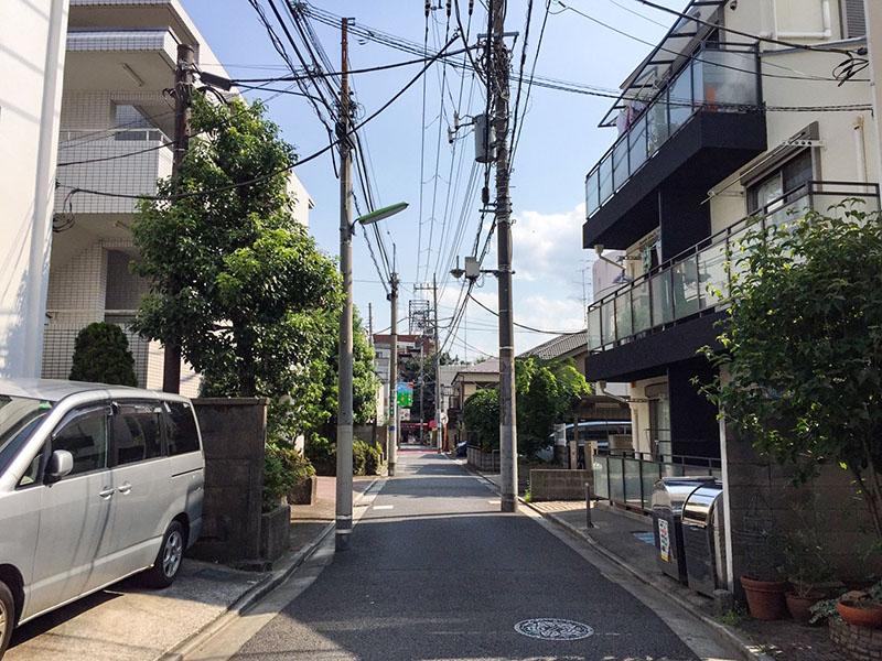 千歳船橋駅の北側の住宅街2