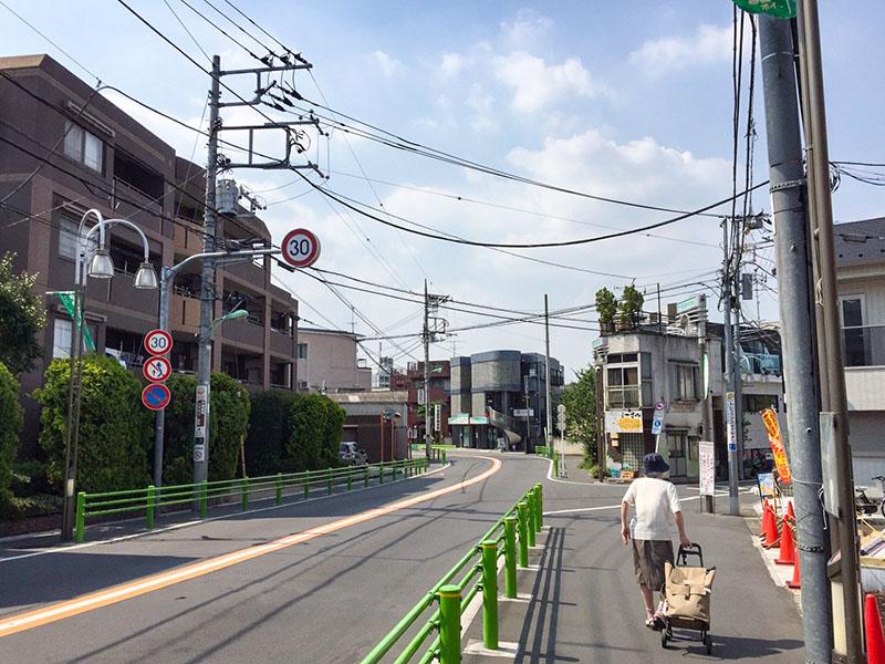 千歳船橋駅の南側の住宅街1