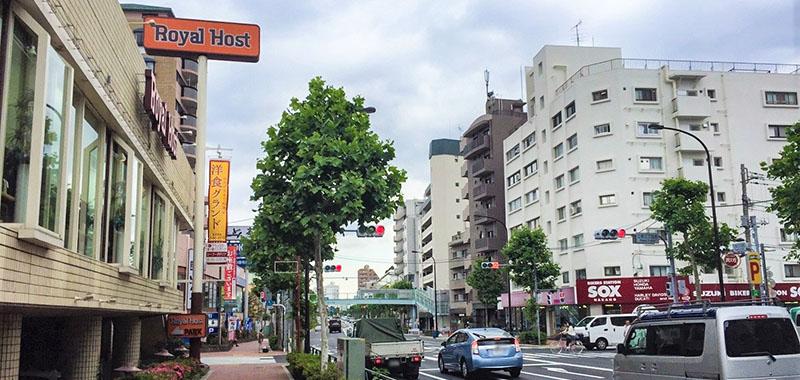 新江古田駅の外観