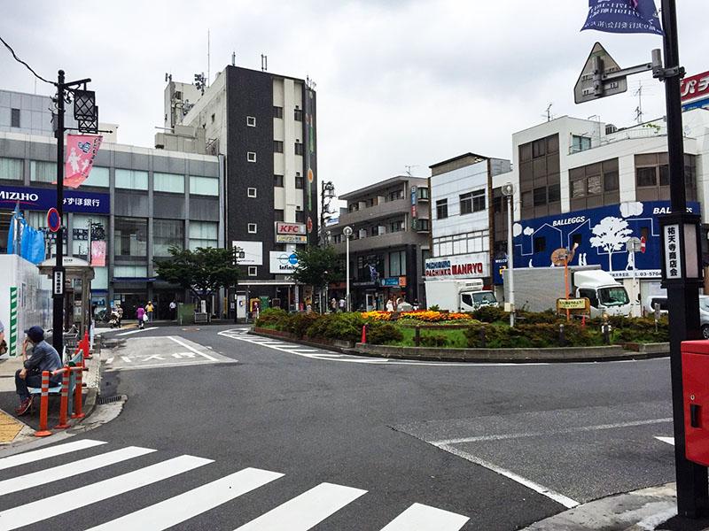 祐天寺駅東口のロータリー