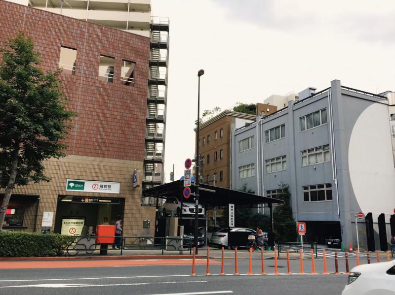 蔵前駅(都営は大江戸線)