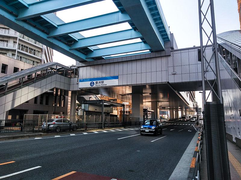 豊洲駅6番・7番出口の外観