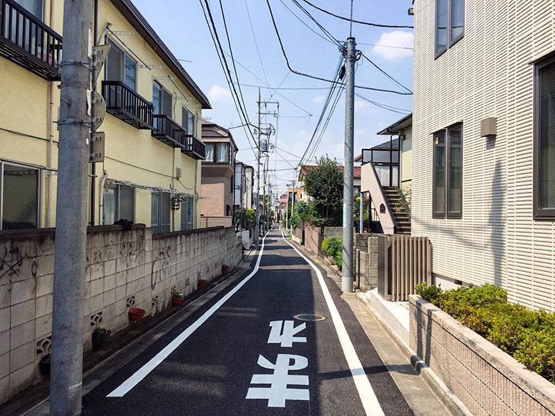 千歳船橋駅の南側の住宅街2