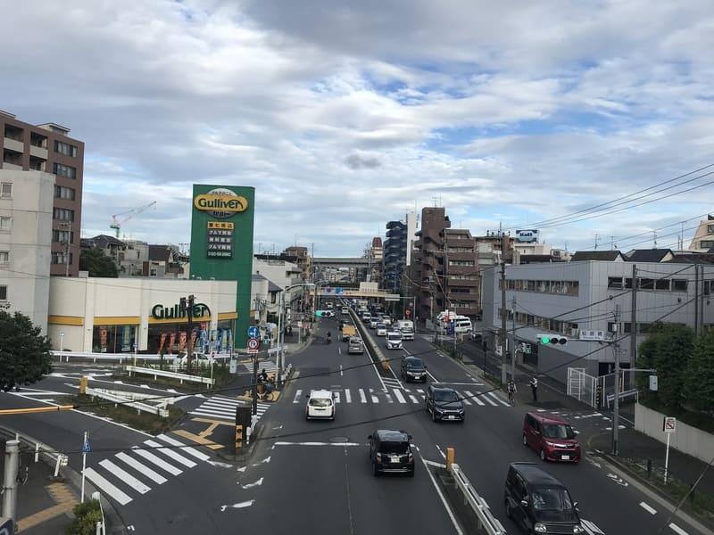 第二京浜沿いから見た環七通り