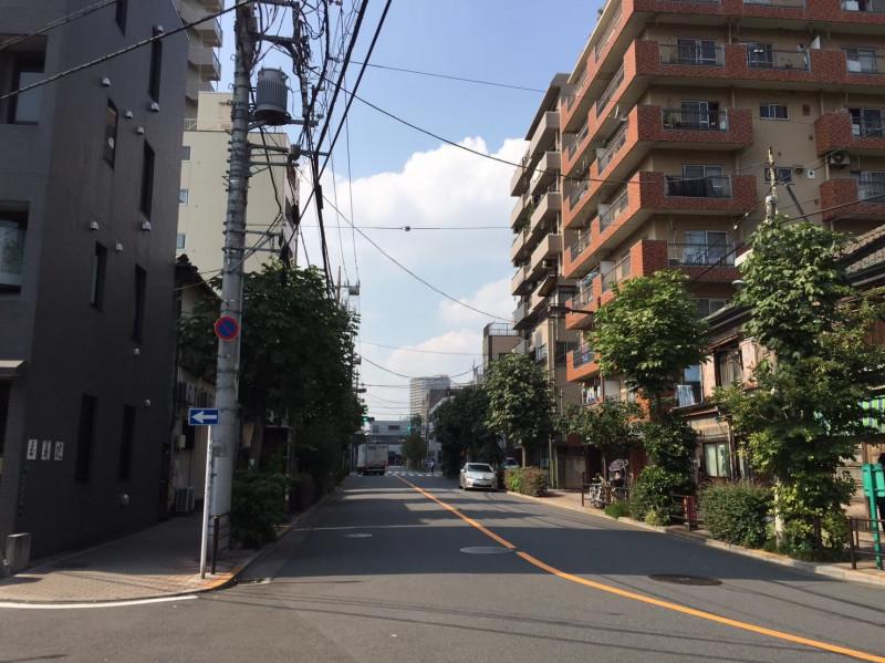 入谷駅西口側の住宅街