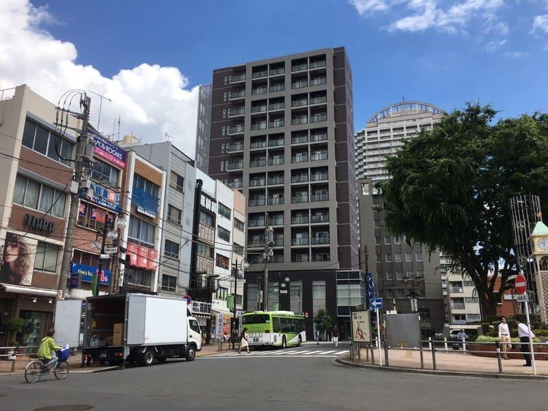 板橋駅西口 駅前のロータリー