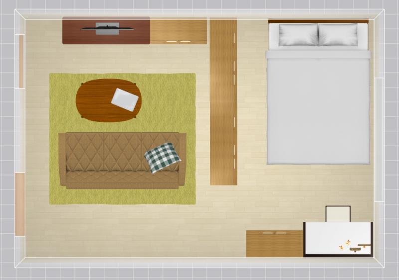 10畳の家具配置例