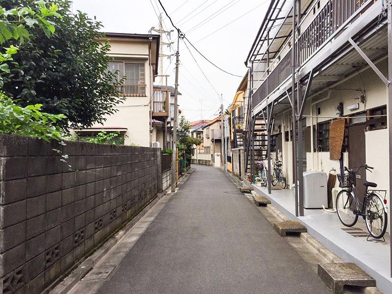 新高円寺駅北側昔ながらの住宅街