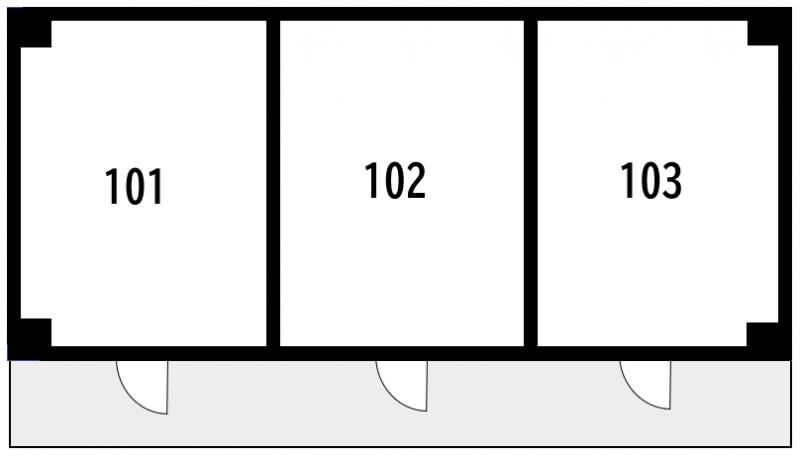 防音性が高いRC造の図面例