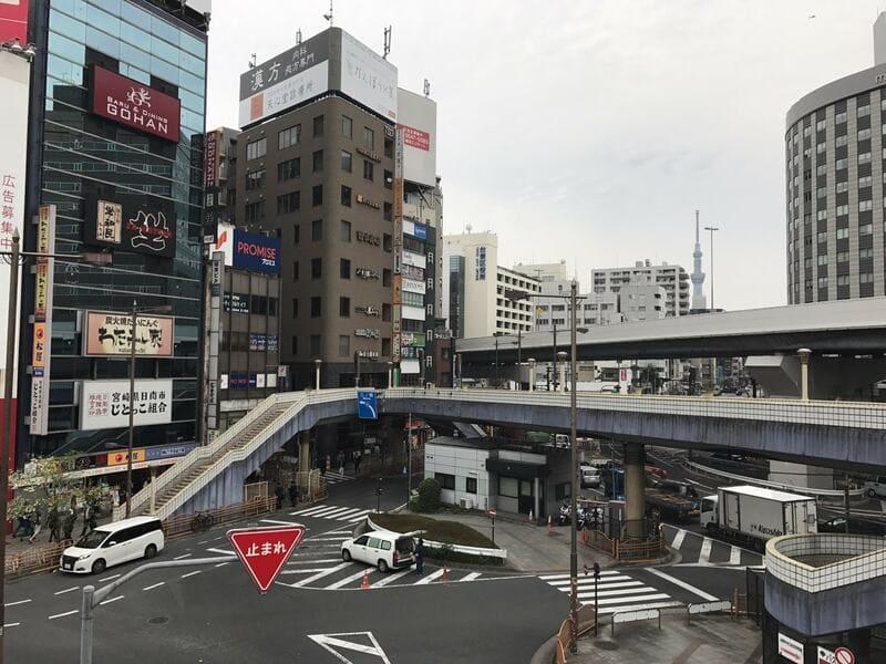 上野駅 入谷口通り 交差点