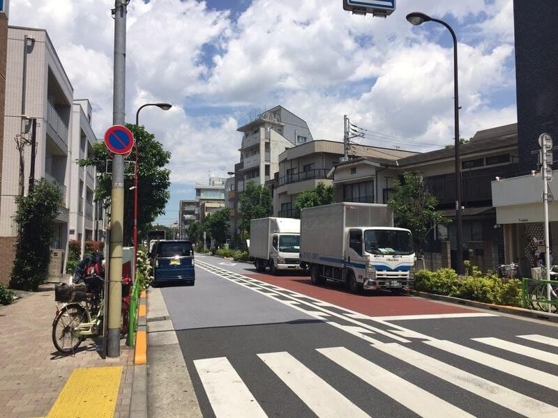 西小山駅 立会道路