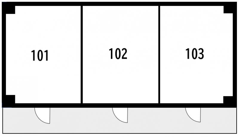 防音性が低いRC造の図面例