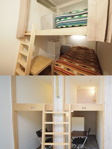 コンパートメントタイプのお部屋