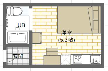 ダブルベッドを置いているミニマリストの女性の部屋