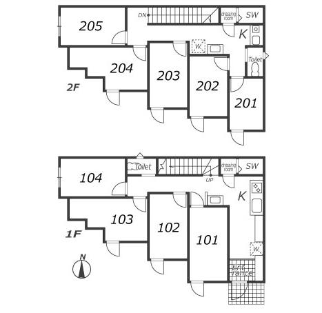 シェアドアパートメント池袋3の平面図