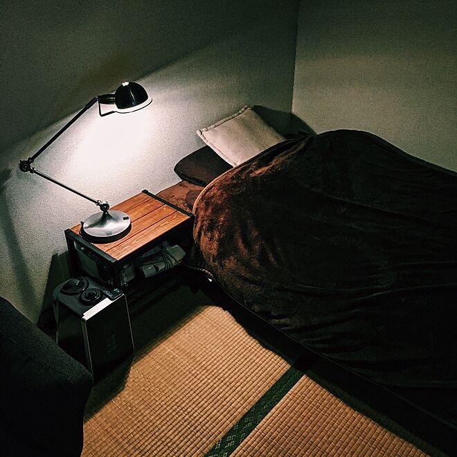 和室にベッドのレイアウト例2