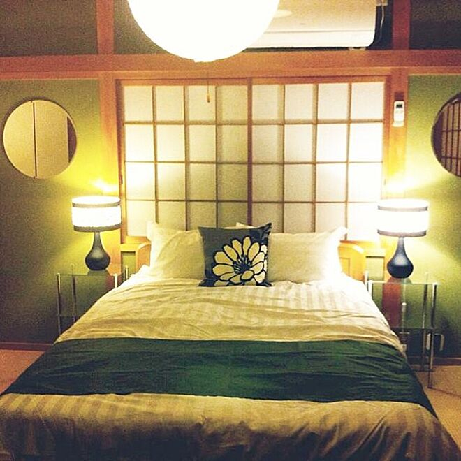 和室にベッドのレイアウト例1