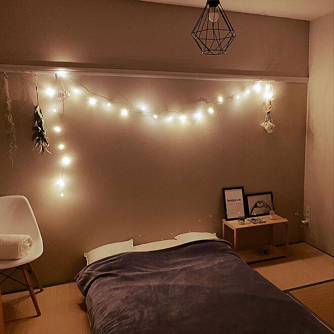 和室にベッドのレイアウト例4