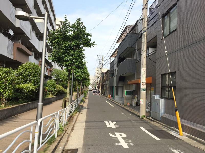 大島駅周辺の住宅街