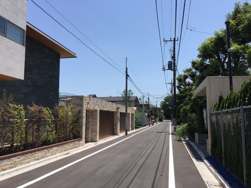 成城学園前駅 周辺の住宅街