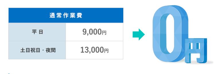 修理・作業料金が無料のかけつけるーぷ