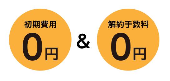 シンエナジーは初期費用と解約手数料が0円