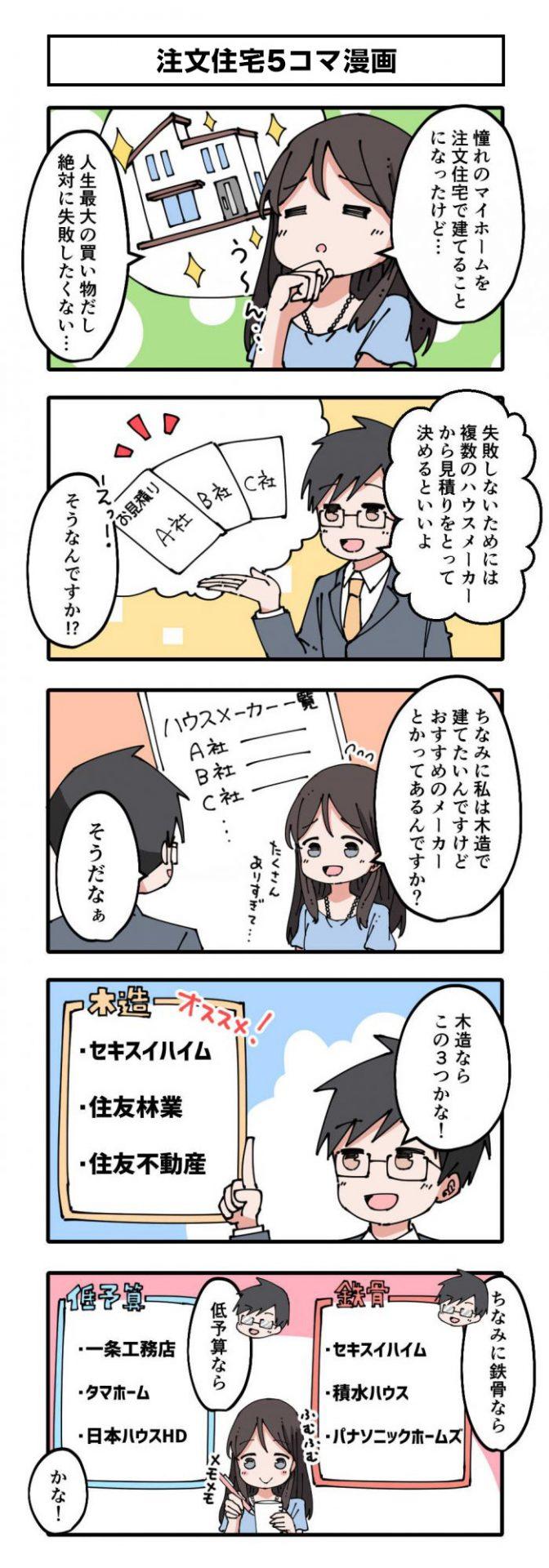 注文住宅5コマ漫画