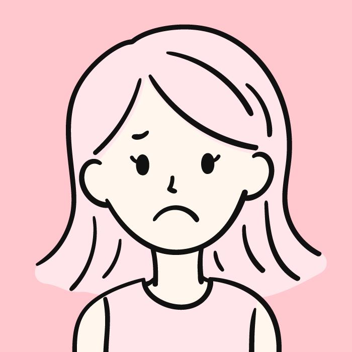 不満な女性のアイコン