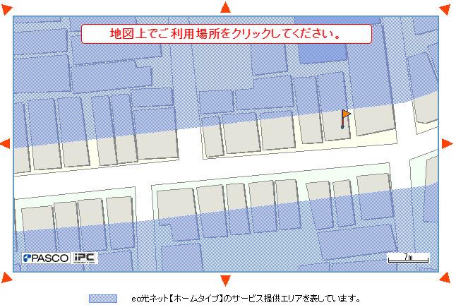 eo光エリア検索マップ画面