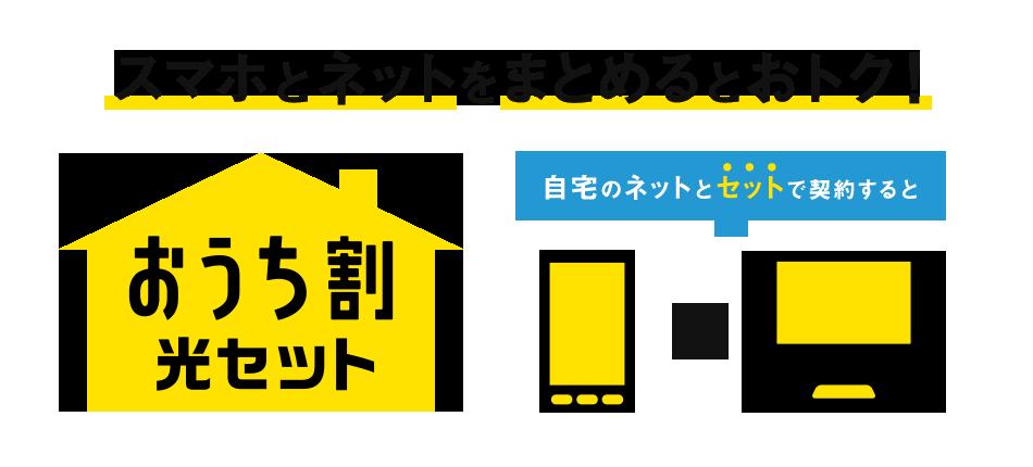 ソフトバンク光とNURO光は「おうち割 光セット」で、毎月のスマホ代が最大1,000円割引