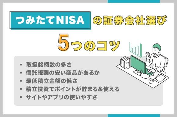 つみたてNISAの証券会社選びのコツ